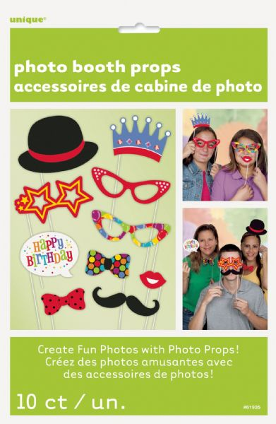 Confetti Birthday Photo Booth Props 10ct